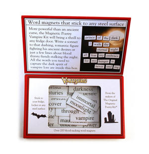 Vampire Fridge Magnet Poetry Set - Fridge Poetry Thumbnail 2