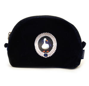 Duck On Blue Velour Small Bag By Catseye Thumbnail 1