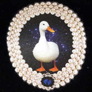 Duck On Blue Velour Small Bag By Catseye Thumbnail 2