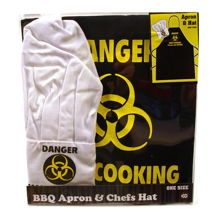 Danger Man Cooking Apron & Chef Hat Set