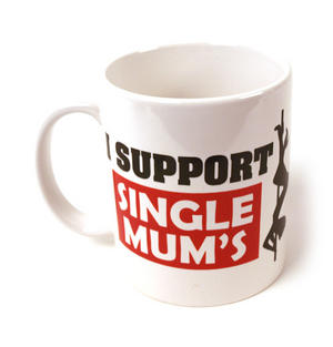 I Support Single Mums - Poledancer Mug Thumbnail 1