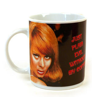 Just Plain Evil Without My Coffee - Retro Mug Thumbnail 1