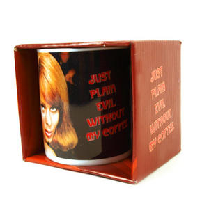 Just Plain Evil Without My Coffee - Retro Mug Thumbnail 2