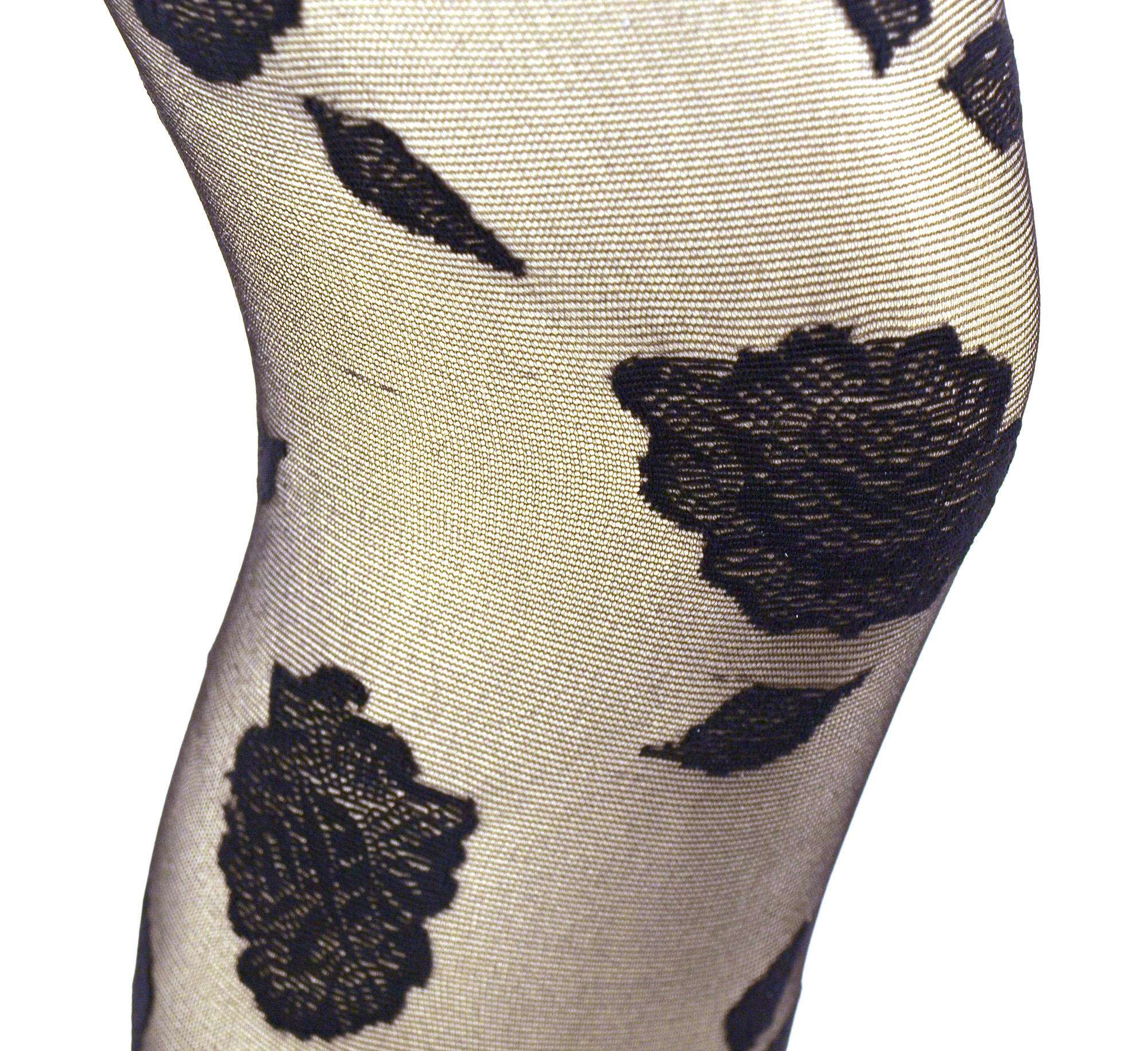 Pamela Mann Flocked Rose Tights