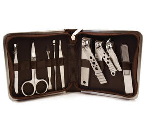 Classic Manicure Set - Large Brown Thumbnail 1