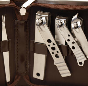 Classic Manicure Set - Large Brown Thumbnail 2
