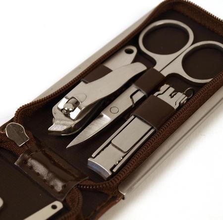 Classic Manicure Set - Medium Brown