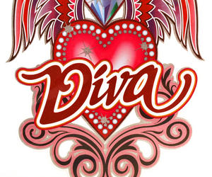 Laptop Notebook Tattoo Sticker - Diva Winged Heart Thumbnail 2