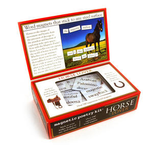 Horse Lovers Fridge Magnet Poetry Set - Fridge Poetry Thumbnail 3