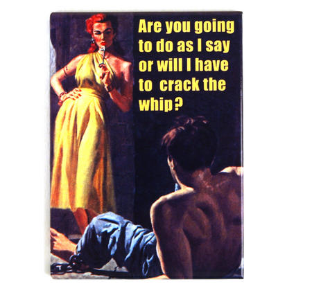 Are You Going To Do As I Say Or Will I Have To Crack The Whip?  Fridge Magnet