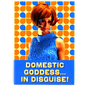 Domestic Goddess In Disguise Fridge Magnet Thumbnail 1