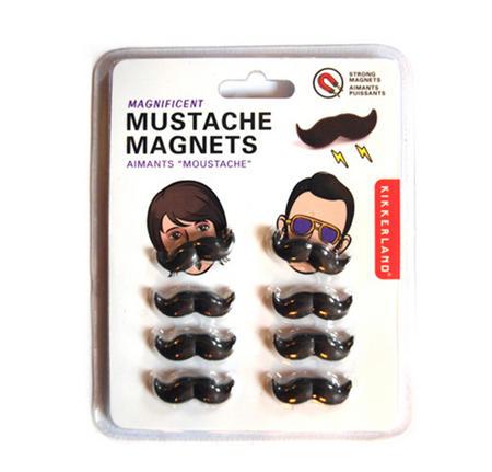 Moustache Fridge Magnet Set