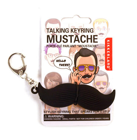 Talking Moustache Keyring