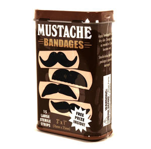 Mustache  Deluxe - First Aid In A Tin - Plasters / Band Aids Thumbnail 2