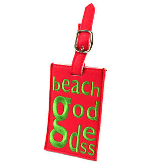 Beach Goddess Luggage Tag Thumbnail 1