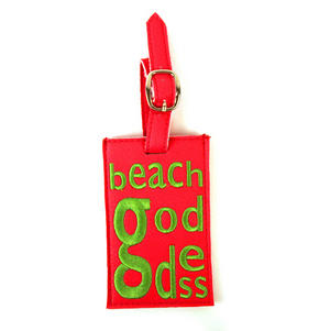 Beach Goddess Luggage Tag Thumbnail 3