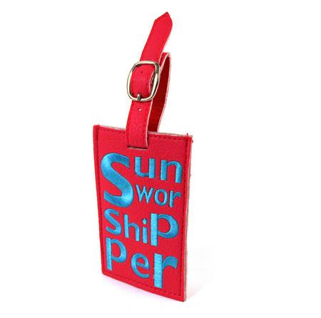 Sun Worshipper Luggage Tag