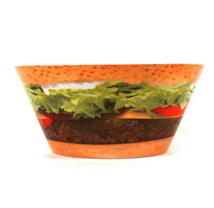 Burger And Fries - 15cm Diameter Melamine Bowl Thumbnail 2