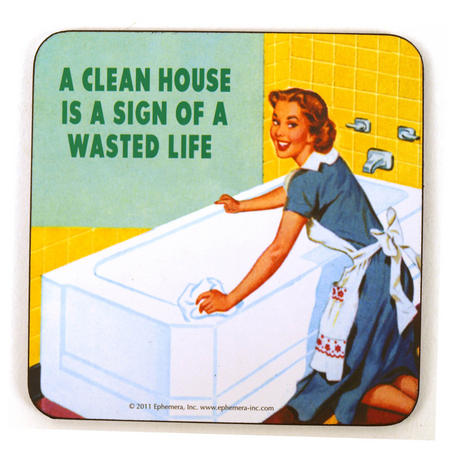 Cool Coaster 'A Clean House Is A Sign Of A Wasted Life'