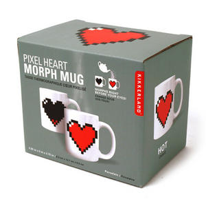 Pixel Heart Heat Change Morph Mug Thumbnail 2