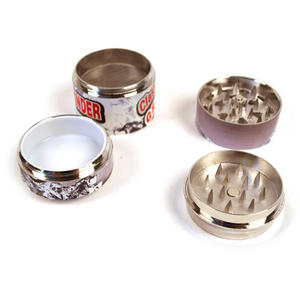 4-Part Herb Grinder - Pull Top Can Disguise - Random Designs Thumbnail 3