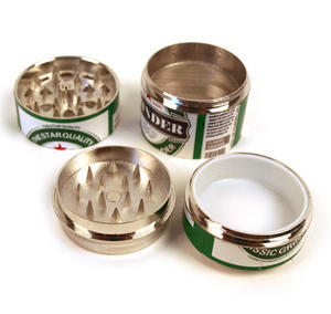 4-Part Herb Grinder - Pull Top Can Disguise - Random Designs Thumbnail 6
