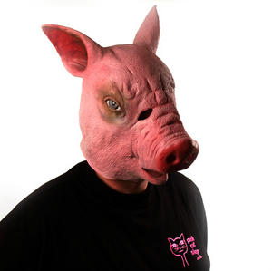 Creepy Pig - Lifesize Head Mask Thumbnail 1