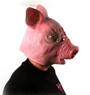 Creepy Pig - Lifesize Head Mask Thumbnail 3