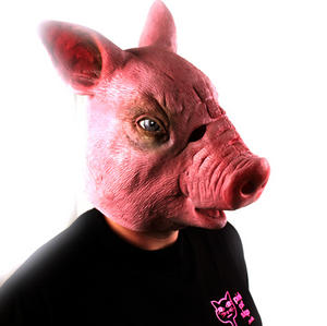 Creepy Pig - Lifesize Head Mask Thumbnail 4