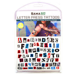 Letter Press Tattoos Thumbnail 2