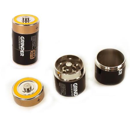 Battery Disguise Grinder - 3 Part Magnetic Herb Grinder