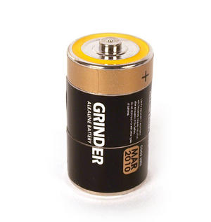 Battery Disguise Grinder - 3 Part Magnetic Herb Grinder Thumbnail 2