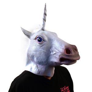 Unicorn - Lifesize Head Mask Thumbnail 2