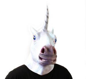Unicorn - Lifesize Head Mask Thumbnail 3
