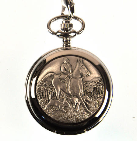 Horse And Hounds Pocket Watch