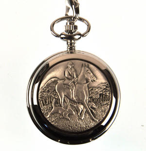 Horse And Hounds Pocket Watch Thumbnail 1