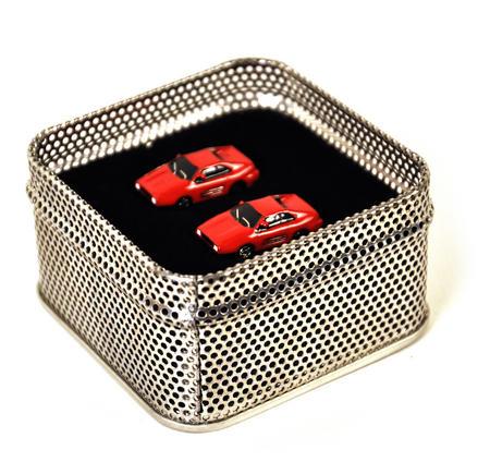 Ferrari Red 3D Cufflinks