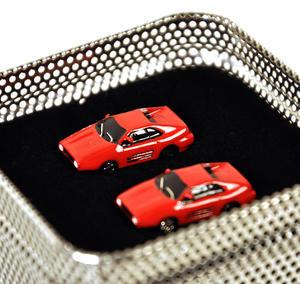 Ferrari Red 3D Cufflinks Thumbnail 2