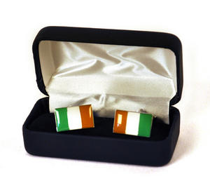 Cufflinks - Irish Flag Thumbnail 1