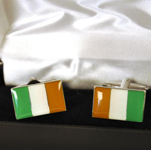 Cufflinks - Irish Flag Thumbnail 2