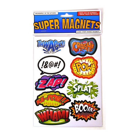 Superhero Supermagnets Fridge Magnet Set