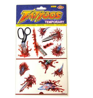 Psychopathic Temporary Tattoos - Random Designs Thumbnail 2