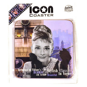 Audrey Hepburn Vogue Coaster Thumbnail 1