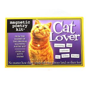 Cat Lover Fridge Magnet Poetry Set - Fridge Poetry Thumbnail 2