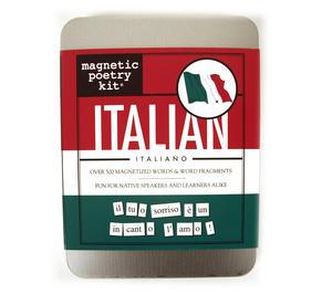 Italian Fridge Magnet Poetry Set - Fridge Poetry Thumbnail 1