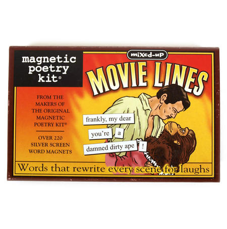 Movie Lines Fridge Magnet Poetry Set - Fridge Poetry