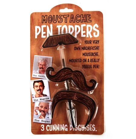 Moustache Pen Toppers