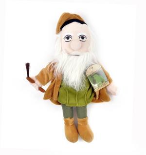 Leonardo Da Vinci Soft Toy - Little Thinkers Doll Thumbnail 3