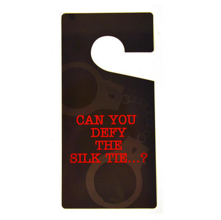 Do Not Disturb' Sign - 'Can You Defy The Silk Tie' - 'shades Of Grey' Door Hanger