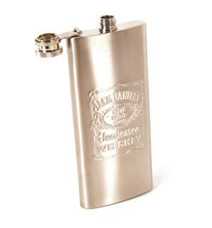Jack Daniels 5Oz Slimline Pocket Flask Thumbnail 1